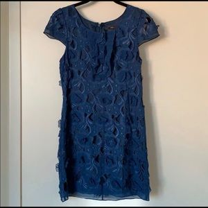 BCBG Silk Flower Mini Dress